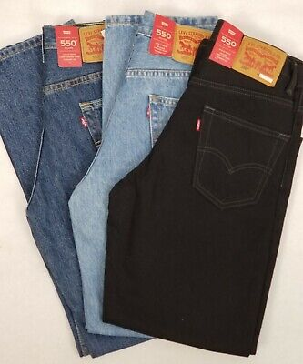 Levis Mens 550 Relaxed Fit Tapered Leg 100% Cotton Denim Jeans New