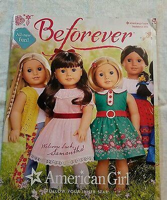 American Girl Doll Catalog Magazine Sept 2014  Toy Samantha Beforever Welcome