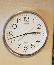 Vintage Seiko Wall Clock Date, Days of week