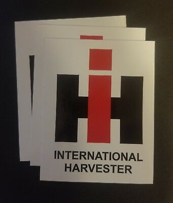 3 International Harvester Sticker Decals
