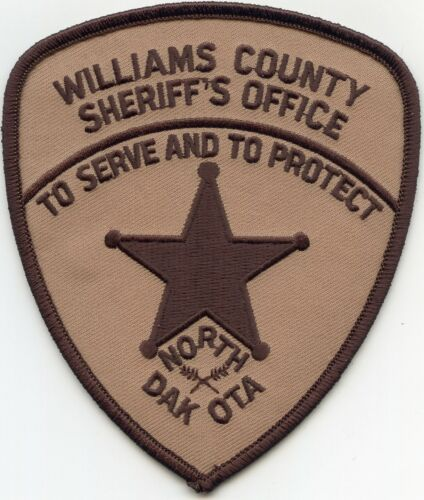 WILLIAMS COUNTY NORTH DAKOTA ND To Serve And To Protect SHERIFF POLICE PATCH