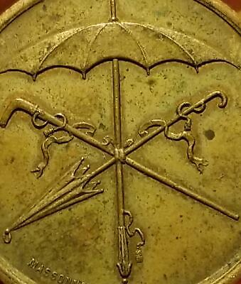 Vtg. French Advertising Token CANE & UMBRELLAS GENSONY FABT DE PARAPLUIES France