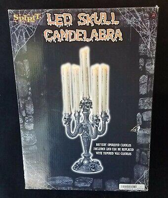 Spirit Gothic LED Skull Candelabra Original Box Works Great New Batteries