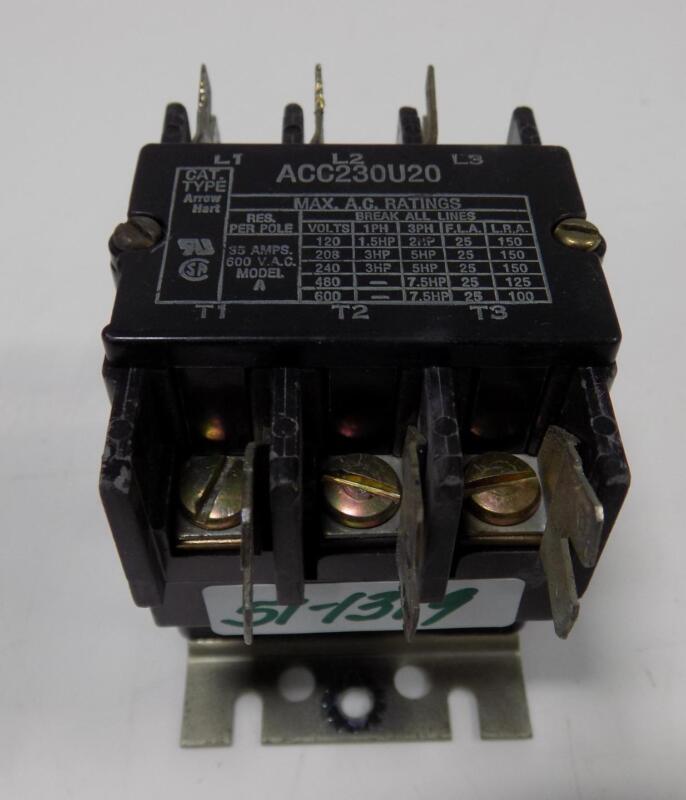 ARROW HART 35A 600VAC 3P CONTACTOR ACC230U20