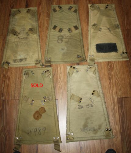 RAF / RCAF  Parachute Back Cushions