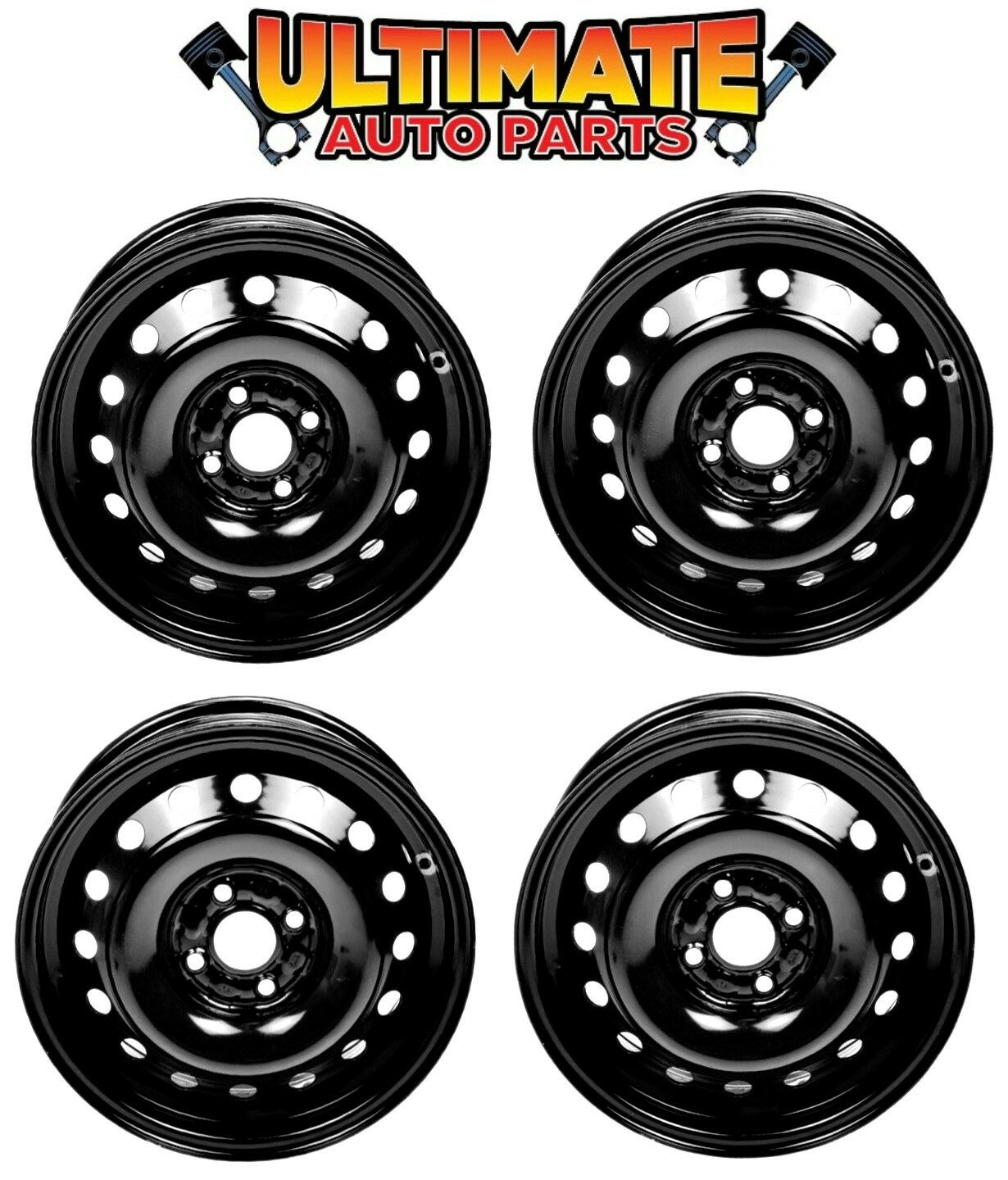 IWS Auto Replacement For New 14 Inch 4 Lug Steel Wheel Rim 05-11 Chevrolet Aveo 09-10 Pontiac G3 05-10 Wave Black