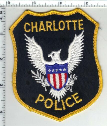 Charlotte Police (North Carolina) 3rd Issue Uniform Take-Off Patch
