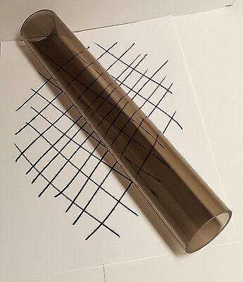 1 Pc Clear Smoke Bronze Acrylic Plexiglass Lucite Tube 2 Od 1 34 Id X 12 Long