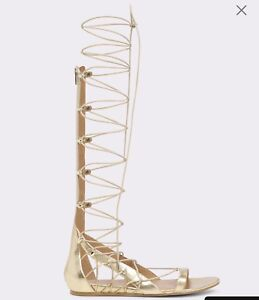 Sexy metallic gold gladiator sandals