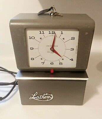 Vintage Lathem Automatic Time Clock Punch Card Recorder 4021 Keys