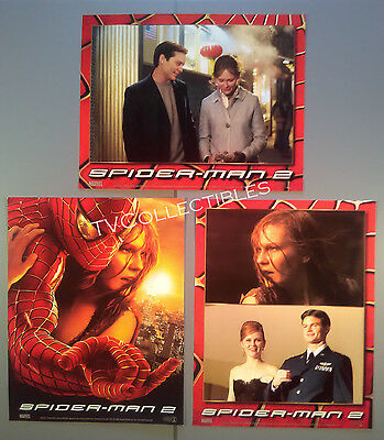 Lobby Card Lot~ SPIDER-MAN 2 ~2004 ~Tobey Maguire ~Kirsten Dunst ~Daniel Gillies