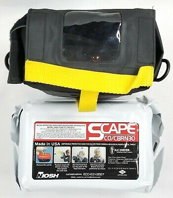 Emergency Escape Air Purifying Safety Respirator Scape Cocbrn30 Exp Dec 2020