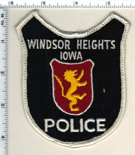 Windsor Heights Police (Iowa) uniform take-off Shoulder Patch from 1990