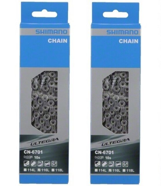 Shimano CN-6701 (x2) 116L Ultegra 10 Speed Chain retail lot of 2