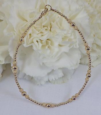 Gold Stardust Bracelet or Ankle Bracelet (2961) Plus Sizes too!