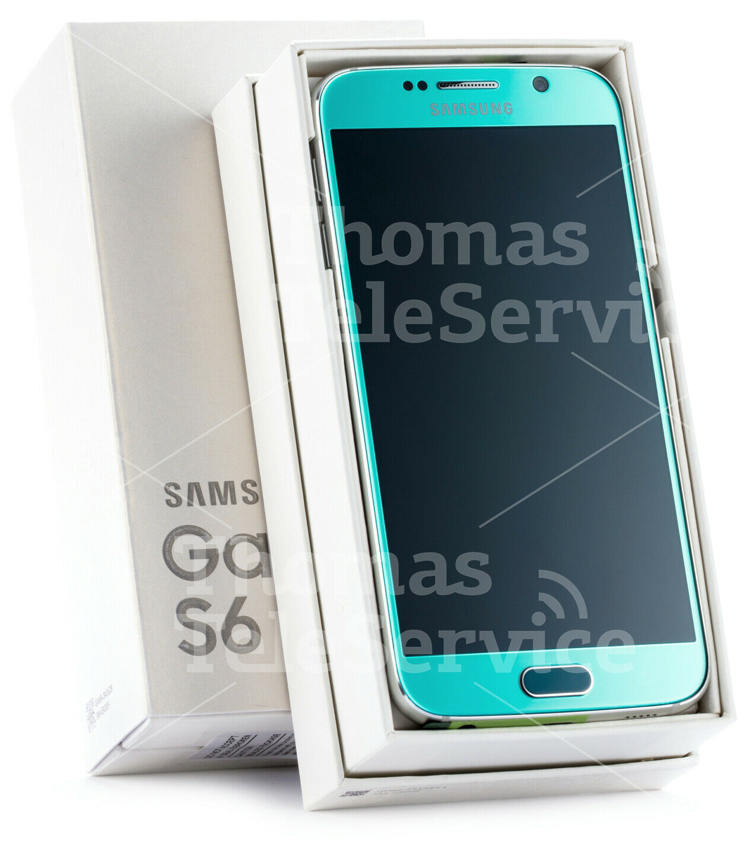 Samsung Galaxy S6 G920f Blue Blau Smartphone Handy Android Neu OVP