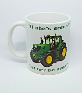 John Deere tractor mug funny framing farmers country Agricultural free gift box