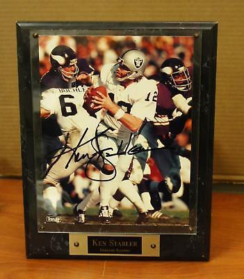 SIGNED KEN STABLER OAKLAND RAIDERS FRAMED PICTURE !  T861. - Ken Stabler Oakland Raiders Framed