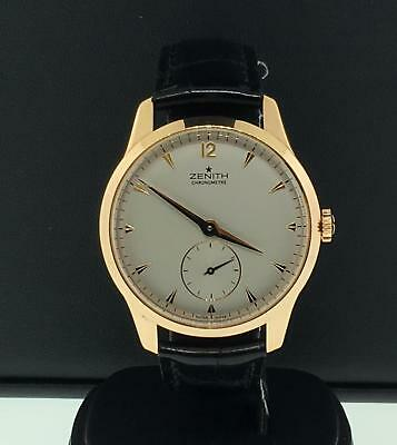Zenith Vintage 1955 Mens 18k Rose Gold 40mm Automatic Leather Strap Limited Ed