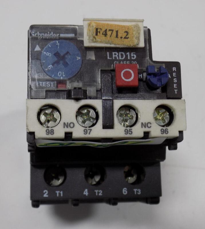 SCHNEIDER ELECTRIC 7-10A THERMAL OVERLOAD RELAY LRD1514