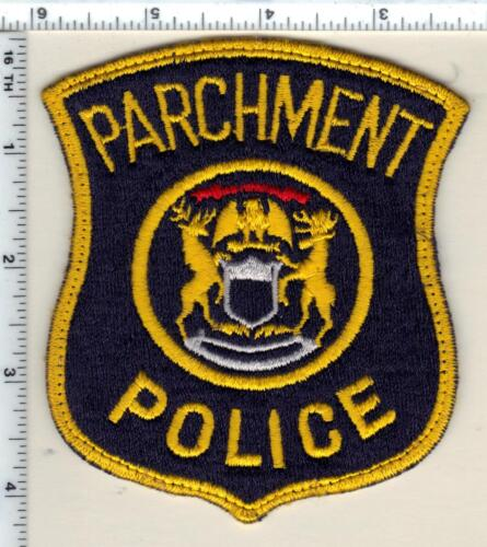Parchment Police (Michigan) Uniform Take-Off Shoulder Patch from the 1980