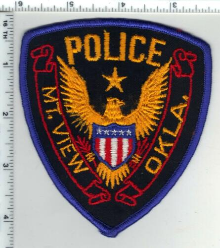 Mt. View Police (Oklahoma) 1st Issue Shoulder Patch from the 1970