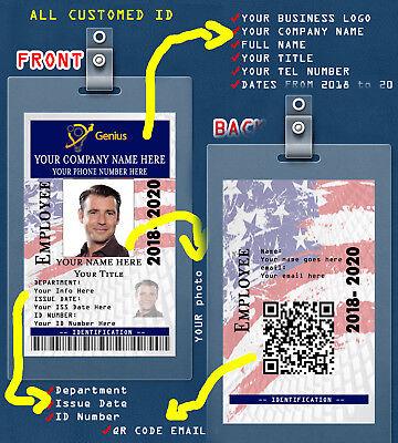 Custom Pvc Id Card W  Clip Usa Custom Employee Id Card  From Any Employer