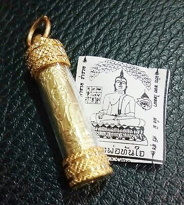 BEAUTIFUL TAKRUT LP THANJAI THAI BUDDHA AMULET TALISMAN LUCK WEALTH PROTECTING
