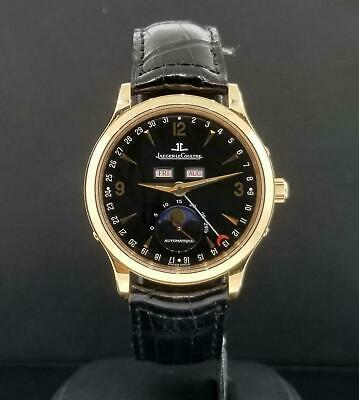 Jaeger LeCoultre Master Moon Calendar 18k Rose Gold 37mm Ref. 140.2.98.S Box & P