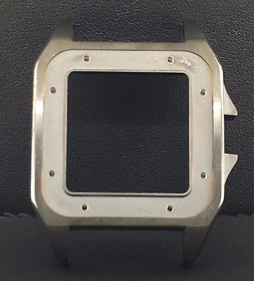 Cartier Santos 100 LARGE Men's Black PVD ADLC Case Ref. 2020010