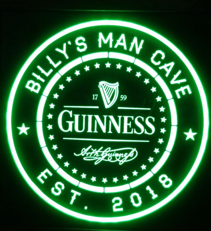 Guinness Beer LED Sign Personalized, Home bar pub Sign, Lighted Sign