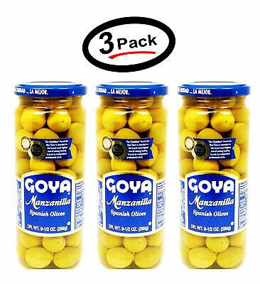 3 Pack Goya Manzanilla Spanish Olives 9.5Oz (3 Pk) - FREE Shipping, Best