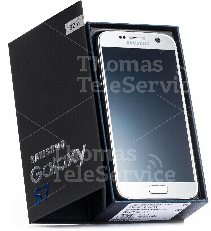 Samsung Galaxy S7 G930f Silver Silber Smartphone Handy Quad-HD Android Neu OVP
