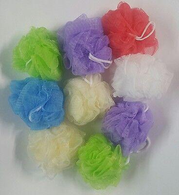 Unbranded 50 Bath Sponges Shower Nylon Mesh Scrubbers Exf...