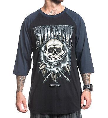Sullen Clothing Mens Manoel Neto Raglan Baseball T Shirt Black Navy
