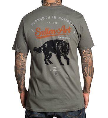 Sullen Clothing Blaq Wolf Tattoo Punk Art CLV Adult Mens T Tee Shirt SCM1594 - Adult Punk