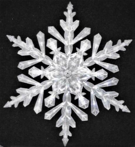 "LARGE 48"" LIGHTED SHIMMERING FOLDING SNOWFLAKE LED LIGHTS OUTDOOR CHRISTMAS YARD"