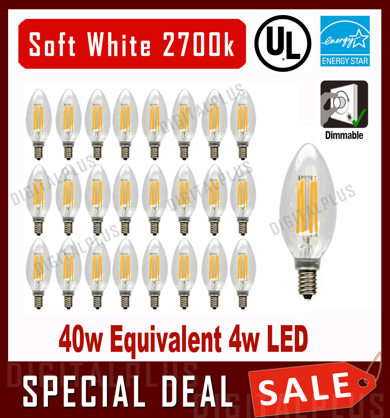 GE Relax 3-Pack 40 W Equivalent Dimmable Soft White B LED Light Fixture Light Bulbs 42287