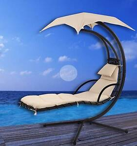 Outdoor Furniture Luxury Floating Lounge With Shade - Cream Nerang Gold Coast West Preview