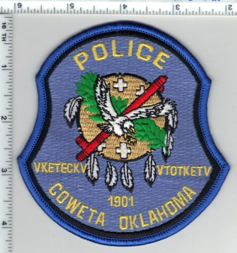 Coweta Police (Oklahoma) Shoulder Patch from the 1980