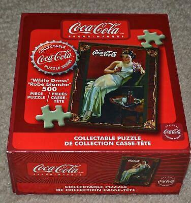 COCA COLA WHITE DRESS COLLECTIABLE PUZZLE NIB 500 piece