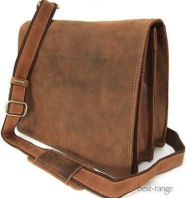 "Messenger 10"" Laptop Shoulder Bag Real Leather Tan Visconti New 16025 BNWT"