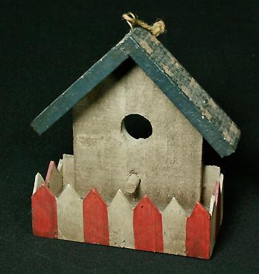 Hand-crafted Patriotic Mini Wood Bird Feeder