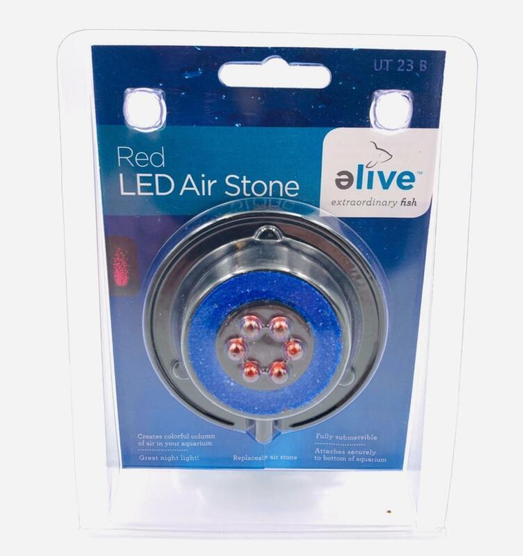 Elive Aquarium Fish Tank Red LED Air Stone Bubble Bubbler Suction Cup
