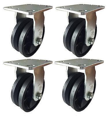 5 X 2 V-groove Caster - 4 Rigids