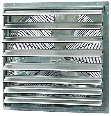 Commercial Exhaust Fan Wall Mount Shutter 36 Single Speed Greenhouse Workshop