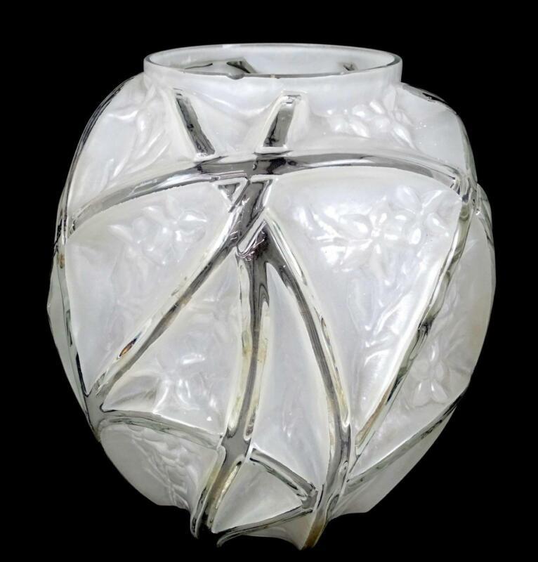 """PHOENIX CONSOLIDATED GLASS #700 MARTELE LINE LARGE 10 5/8"""" VASE 1926-"""