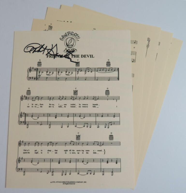 """Robert Hunter GRATEFUL DEAD Signed Autograph """"Friend Of The Devil"""" Sheet Music"""