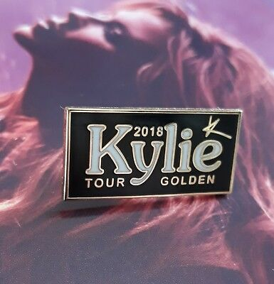 kylie minogue GOLDEN TOUR 2018 METAL PIN BADGE ONLY 500 WORLDWIDE