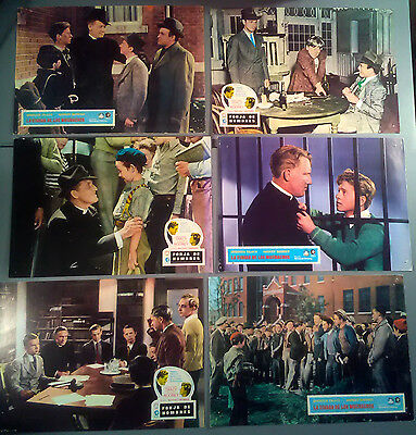 Lobby Card Lot x 6~ MEN OF BOYS TOWN ~Spencer Tracy ~Mickey Rooney ~Bobs Watson